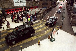 Taxi rank at Waverley Station