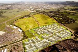 Proposals for the International Business Gateway, which will create 12,000 new jobs near Edinburgh Airport