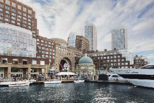 The Boston Harbor Hotel is at Rowes Wharf in the city. Picture: contributed.