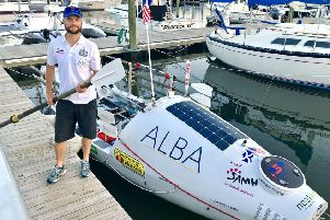 Niall Iain Macdonald, 44, before setting off from Norfolk, Virginia, on his third attempt at the North Atlantic row. Picture: SAMH/PA Wire