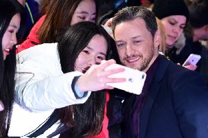 Scottish star James McAvoy meets fans at the European premier of 2019 hit Glass. Ian West/PA Wire
