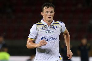 Liam Henderson could be lining up for Verona against AC Milan in Italy's Serie A. Picture: Getty.