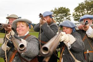 Reenactors take part in the Battle of Dunbar reenactment (Photo: Scott Louden)