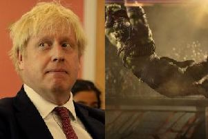 Boris Johnson attends a year six history class with pupils during a visit to Pimlico Primary school on September 10. Picture: Getty Images/ Mark Ruffalo as Hulk. Picture: PA