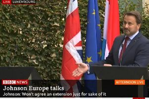 Prime Minister Boris Johnson skipped a plan press conference because he was being heckled. Picture: BBC News
