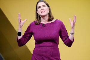 Jo Swinson would be happy to see the Brexit referendum result overturned in a democratic vote, but has ruled out Scotland having another independence referendum. Picture: PA