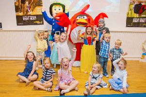 Fireman Sam and children (and Red the Angry Bird) have fun at Bo'ness Recreation Centre (Picture: Malcolm McCurrach)
