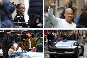 Fast and Furious 9: The best pictures of stars filming in Edinburgh including Vin Diesel, Nathalie Emmanuel and Ludacris