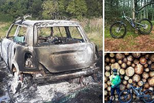 Thieves set fire to David's Mini and stole his two mountain bikes. Pictures: David Hayes