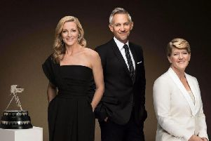 Gabby Logan, Gary Lineker and Clare Balding will be the lead presenters once again. Picture: BBC