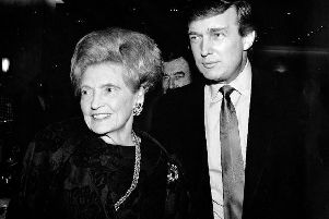 Donald Trumps mother, Mary, and a younger Donald Trump. (Picture: Getty Images)