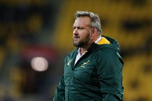 Matt Proudfoot wants the spotlight to fall on the Springboks' onfield prowess despite Aphiwe Dyantyi, inset, failing a drug test. Picture: Getty.