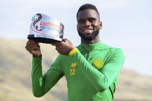 Odsonne Edouard, the Ladbrokes Premiership Player of the Month for August, has been linked with Napoli. Picture: Craig Foy/SNS
