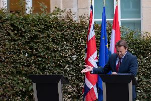 The Union Jack is there, but where's Boris Johnson at UK-Luxembourg press conference? And did anyone notice Corbyn in Scotland, wonders Kenny MacAskill (Picture: Joshua Sammer/Getty Images)
