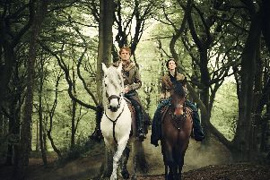 The success of Outlander, starring Sam Heughan and Catriona Balfe, has been a boon to Scottish tourism with the show attracting legions of fans to the Highlands and beyond. PIC: Sony Television/Starz.