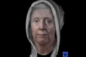 Innocent women like Lilias Adie, her face reconstructed by experts in Dundee, were burned alive (Picture: Centre for Anatomy and Human Identification, University of Dundee/PA)