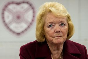 Hearts owner Ann Budge.