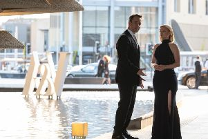 Matthew McFadyen and Sarah Snook were among the stars of Succession to shoot scenes in Scotland, including at Dundee's new V&A museum.