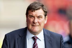 Tommy Wright wants his St Johnstone side to repeat their performance against Aberdeen last week. Picture: SNS.