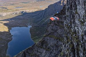Sam Percival, 35, miraculously survived the horror fall after his parachute spun mid-jump, slamming him into the sheer cliff face at speeds of at least 30mph.