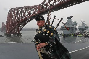 Britain's newest aircraft carrier, Prince of Wales, sailed from the firth of forth for the very first time. Picture: FotoWare/ Royal Navy Media Archive