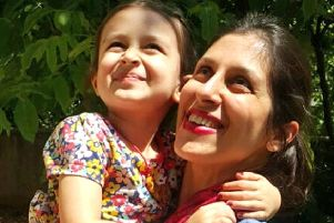 Nazanin Zaghari-Ratcliffe with her daughter Gabriella. Picture: PA