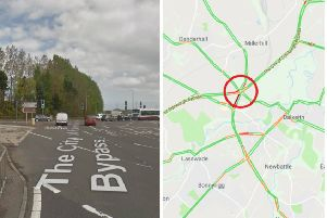 Traffic Scotland is urging caution on approach to Sheriffhall Roundabout.