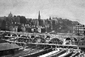 The original North Bridge pictured during dismantling circa 1896. Picture: Contributed