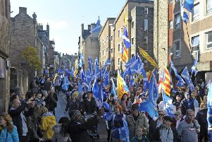 A previous AUOB march through Edinburgh attracted around 20,000 people, officials estimated. Picture: TSPL