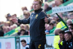 Neil Lennon during the draw with Hibs.