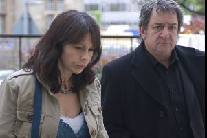 Actor Ken Stott, seen with co-star Julie Graham, reckons the character he plays, Rebus, would be an indyreffer, while author Ian Rankin says the fictional detective backs the Union (Graeme Hunter/ITV)