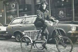 Carol Graham was a familiar sight on her distinctive tricycle