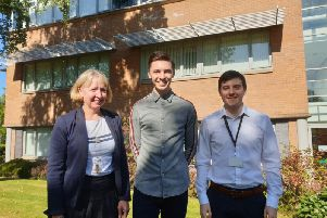 From left: Edge Testing MD Sharon Hamilton with academy graduates Grant Martin and Stuart Dougans. Picture: Contributed