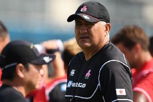 Japan's head coach Jamie Joseph.