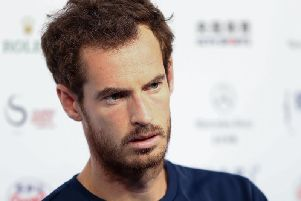 A tired-looking Andy Murray speaks to the media after his gruelling three-set encounter with Cameron Norrie