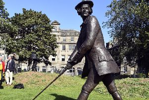 A bronze statue of John Rattray, the man responsible for signing the original'rules of golf, at Leith Links (Picture: Lisa Ferguson)