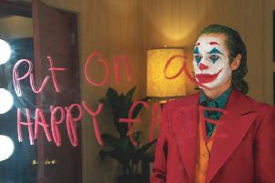 The star of the film, Joaquin Phoenix, briefly walked out of a media interview when asked about the risk of copycat violence (Picture: Warner Bros)