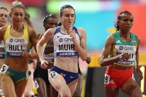 Laura Muir in the women's 1500m semi-final at the 2019 IAAF Athletics World in Doha. Picture: Karim Jaafar/AFP via Getty