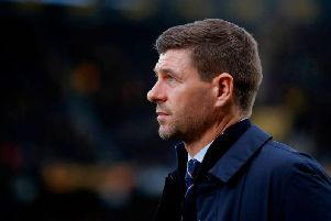 Rangers boss Steven Gerrard watched his side lose a 1-0 half-time lead.