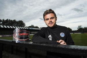 Ayr United winger Alan Forrest with his Ladbrokes Championship Player of the Month award for September at Somerset Park. Picture: Paul Devlin/SNS