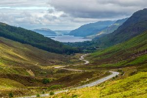 View of Loch Maree from Glen Doherty - part of the North Coast 500 scenic route around the north coast of Scotland.Picture: Getty Images