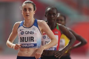 Laura Muir is aiming for a medal in the 1500m final in Doha. Picture: AFP via Getty Images