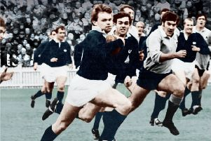 Ian Smith in full flight for Scotland against New South Wales in Australia. Picture: BirlinnLimited.