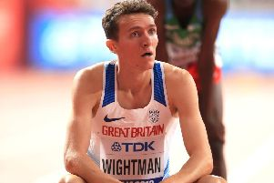 Jake Wightman will be going for gold in the men's 1,500m final in Doha on Sunday night. Picture: Mike Egerton/PA