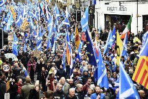 All Under One Banner Independence March - Holyrood to Meadows. Picture: Pic Lisa Ferguson