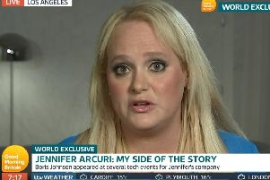 Jennifer Arcuri, the American businesswoman at the centre of a storm over her association with Boris Johnson, being interviewed on ITV's Good Morning Britain. Picture: ITV/PA