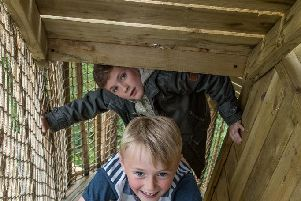 The adventure playground at Brodick Castle. Picture: National Trust for Scotland
