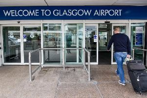 Flights were due to leave from Glasgow Airport. Picture: John Devlin