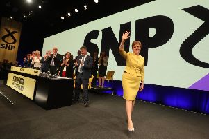 Nicola Sturgeon during the SNP spring conference at the EICC i in April. The party will gather in Aberdeen this weekend. Picture: Andrew Milligan