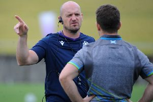 Scotland head coach Gregor Townsend during a training session. Picture: David Gibson/Fotosport